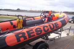 Loughor Lifeboat outside the boathouse