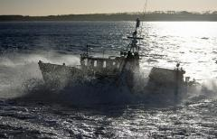 Blyth Volunteer Lifeboat seen off Blyth beach