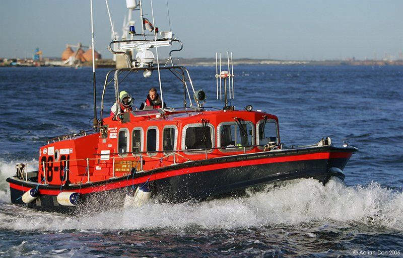 Blyth Volunteer Lifeboat seen off Blyth