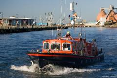 Blyth Volunteer Lifeboat seen in Blyth Harbour