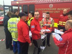 Flood exercise Cardiff
