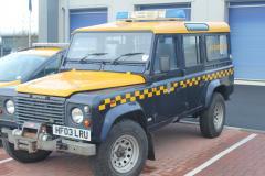HMCG Land Rover at Training Centre
